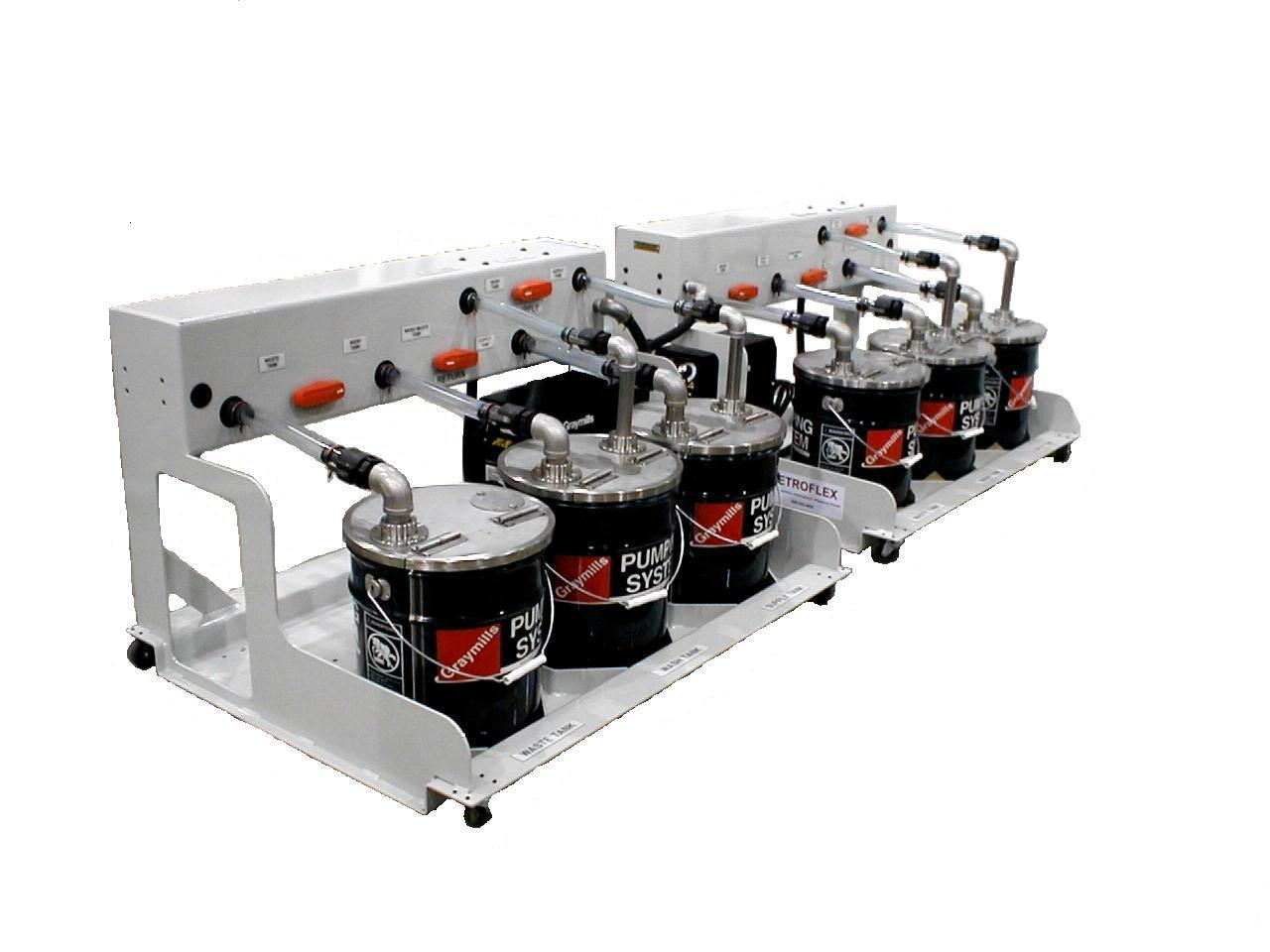 Wash up systems for RADBS